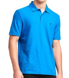 Imperial Blue Stacked-Logo Polo