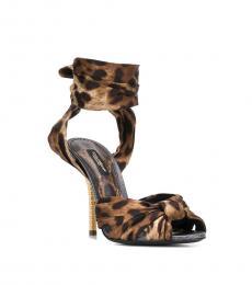 Dolce & Gabbana Leopard Print Knot Heels