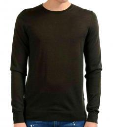 Olive Wool Crewneck Sweater