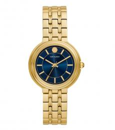 Tory Burch Gold Navy Bailey Watch