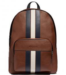 Coach Saddle/Midnight Navy Houston Large Backpack