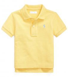 Ralph Lauren Baby Boys Oasis Yellow Mesh Polo