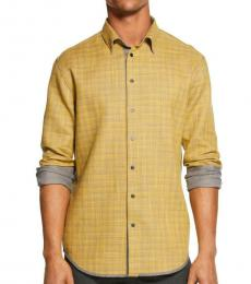 DKNY Musturd Reversible Button-Down Shirt