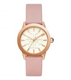 Tory Burch Pink-Rose Gold Gigi Watch