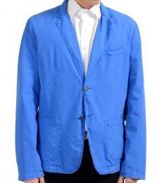 Versace Jeans Bright Blue Two Button Blazer