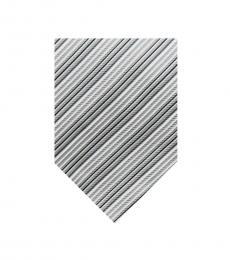Burberry Grey Dapper Silk Stripes Tie