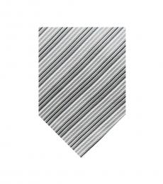 Burberry Grey Dapper Silk Stripes Tie