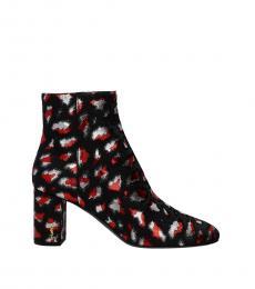 Saint Laurent Grey Multi Ankle Boots