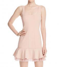 BCBGMaxazria Bare Pink Knit Evening Dress