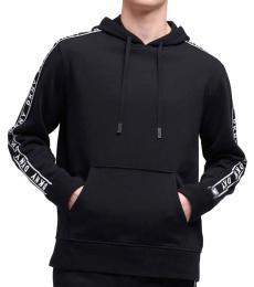 DKNY Black Taped-Logo Hoodie