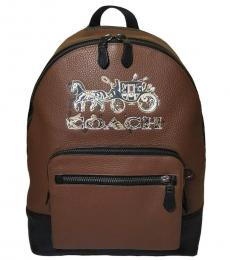 Coach Brown West Large Backpack