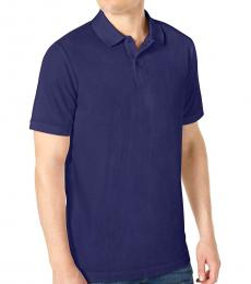 DKNY Navy Blue Stackable Regular-Fit Polo