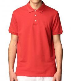 Emporio Armani Red Logo Patch Polo