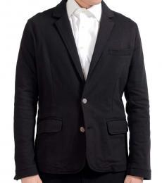 Versace Jeans Black Cotton Blazer