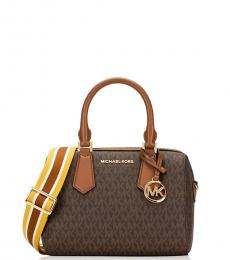 Michael Kors Brown/Luggage Hayes Small Satchel