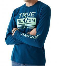 Teal Long Sleeve ST-Shirtl Mill T-Shirt