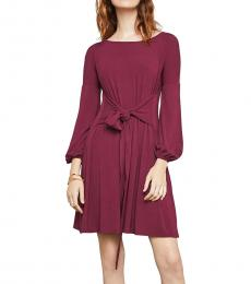 Tibetanred A-Line Jersey Mini Wrap Dress