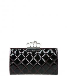 Black Quilted Four Ring Clutch
