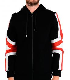 Neil Barrett Black Hooded Slim Fit Sweatshirt