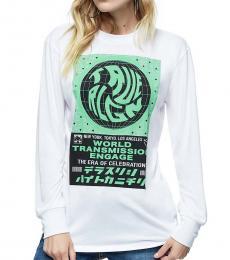 White Graphic Logo Shirt