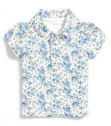 Ralph Lauren Baby Girls Multi Floral Interlock Polo