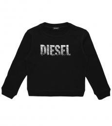 Diesel Little Girls Black SRALY Sweatshirt