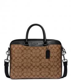 Coach Tan Beckett Large Briefcase Bag