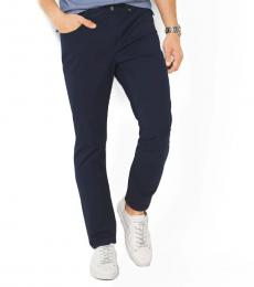 Michael Kors Midnight Slim-Fit Cotton-Twill Pants