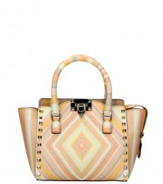 Valentino Garavani Beige Stripes Small Satchel