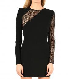Dsquared2 Black Openwork Dress