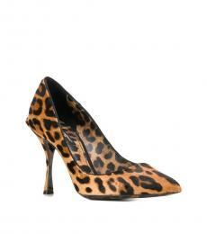 Dolce & Gabbana Leopard Print Leather Heels