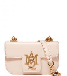 Alexander McQueen Light Pink Insignia Medium Shoulder Bag