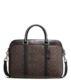 Coach Mahongany Perry Slim Large Briefcase Bag