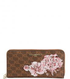 Brown Monogrammed Continental Wallet