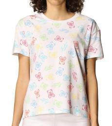 Moschino White Allover Logo T-Shirt