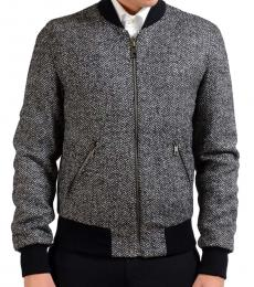 Grey Full Zip Bomber Jacket