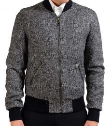 Dolce & Gabbana Grey Full Zip Bomber Jacket