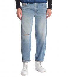 Denim Dagh Ripped Knee Straight Leg Jeans