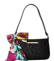 Betsey Johnson Black Scarf Medium Shoulder Bag