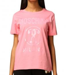 Pink Regular Fit Logo Tee