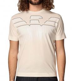 Emporio Armani White Eagle Print T-Shirt