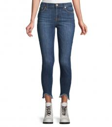 7 For All Mankind Cambridge Faded Frayed Jeans