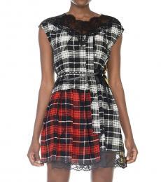 Marc Jacobs Black Silk Checkered Dress