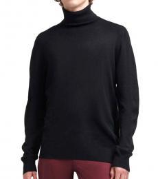 Black Merino Turtleneck Sweater