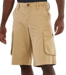 True Religion Beige Cargo Shorts