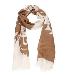 Brown Tiger Crest Scarf