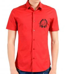 Versace Jeans Red Short Sleeve Shirt