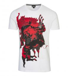 Just Cavalli White Conspicuous Print Tee