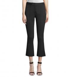 Black Crop Flare Pants