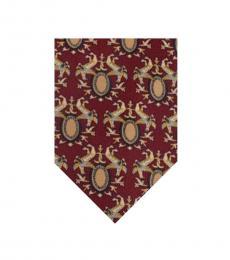 Dolce & Gabbana Burgundy Dapper Tie